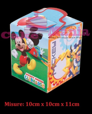 Scatola quadrata porta caramelle marshmallow Mickey Mouse Topolino Party a tema